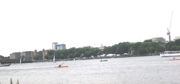 Kayacking on the Charles- 2